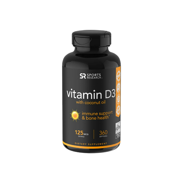 Picture of Vitamina D3 Sports Research Suplemento Nutricional - 360 Cápsulas